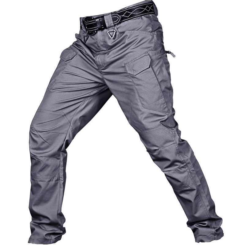 IX7 Commuter Tactical Pants Outdoor Training Men's Army Trousers Mountaineers Wear-resistant Clothing - GRAY
