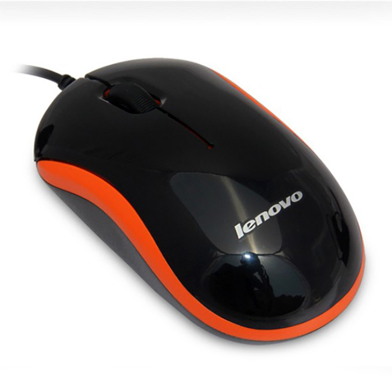 Lenovo M100 Wired Mouse for Notebook Desktop Computer Business Office - Black,