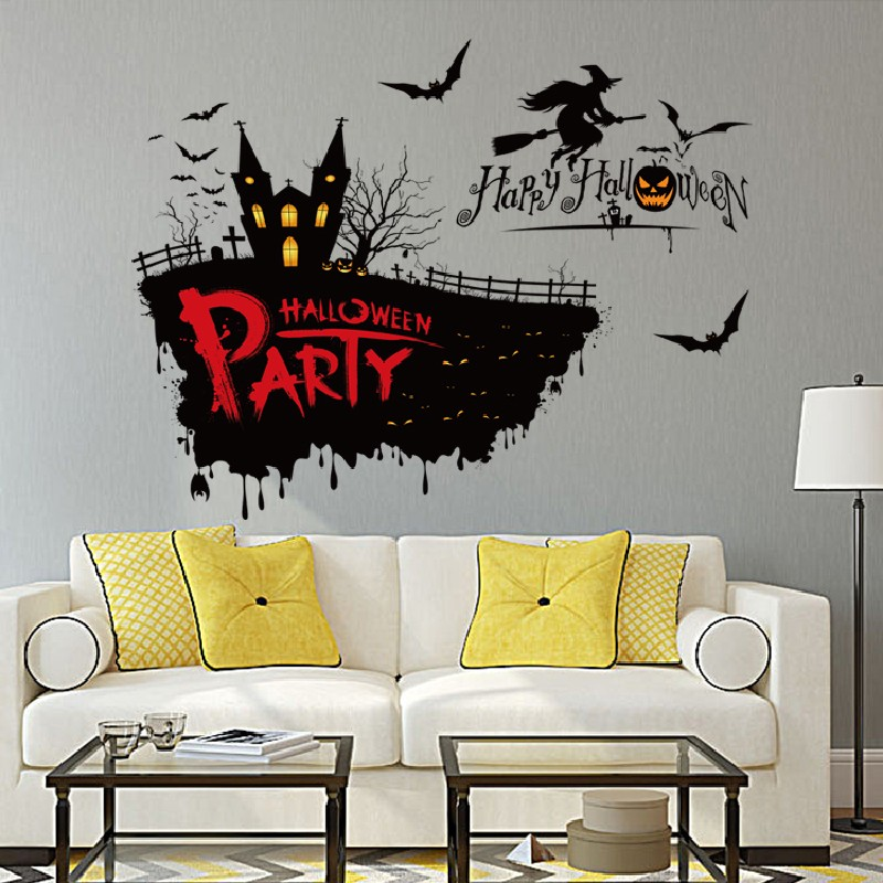 Dsu Halloween Wall Sticker Mix Color 50 X 70cm Wall Stickers Sale Price Reviews Gearbest
