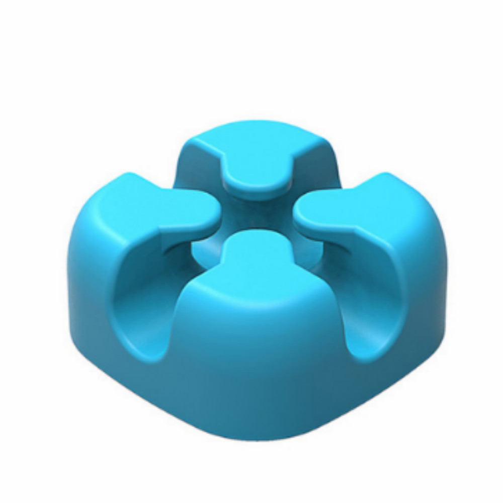 AIFFECT M1S - 1 Cable Winder Earphone Cable Organizer Wire Storage Silicone Charger Cable Holder Clips MP4 Earphone - BLUE