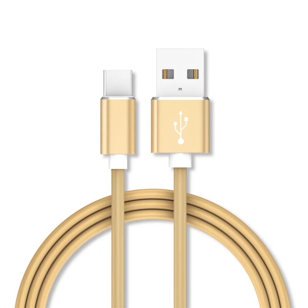 1M Data Sync Fast Charging USB Type-C Cable Type-C Devices - GOLDEN