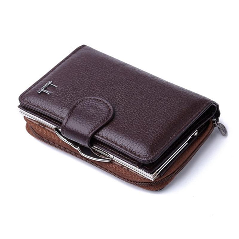 Women's Coin Purses 2017 Genuine Leather Coin Wallets Female Small Wallet High Quality - BROWN