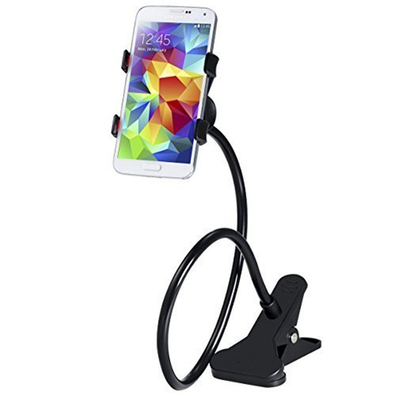 Black 5 and Andriod Phones Flexible Universal Phone Car Holder Mount and Stand For iPhone 4S