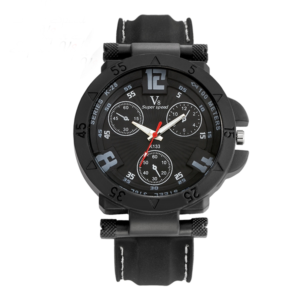 Super Speed Black Color Men S Watches Male Thin Silica Gel Students Sports Quartz Watch Sale Price Reviews Gearbest