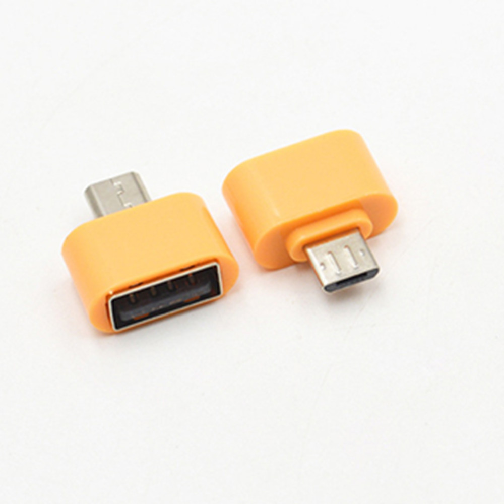 New High Quality Micro USB USB2.0 OTG Expansion Adapter Cell Phone Android Interface - ORANGE