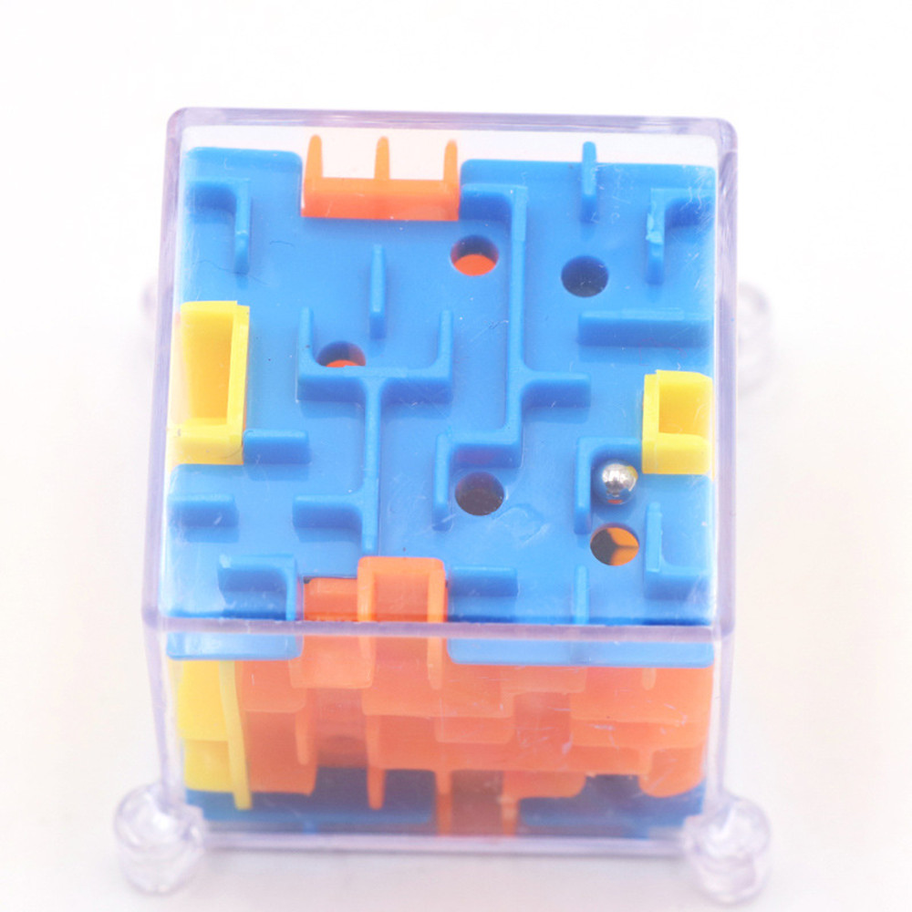 3D Maze Magic Puzzle Speed Cube Rolling Ball Game Maze Kid Educational Toys BW