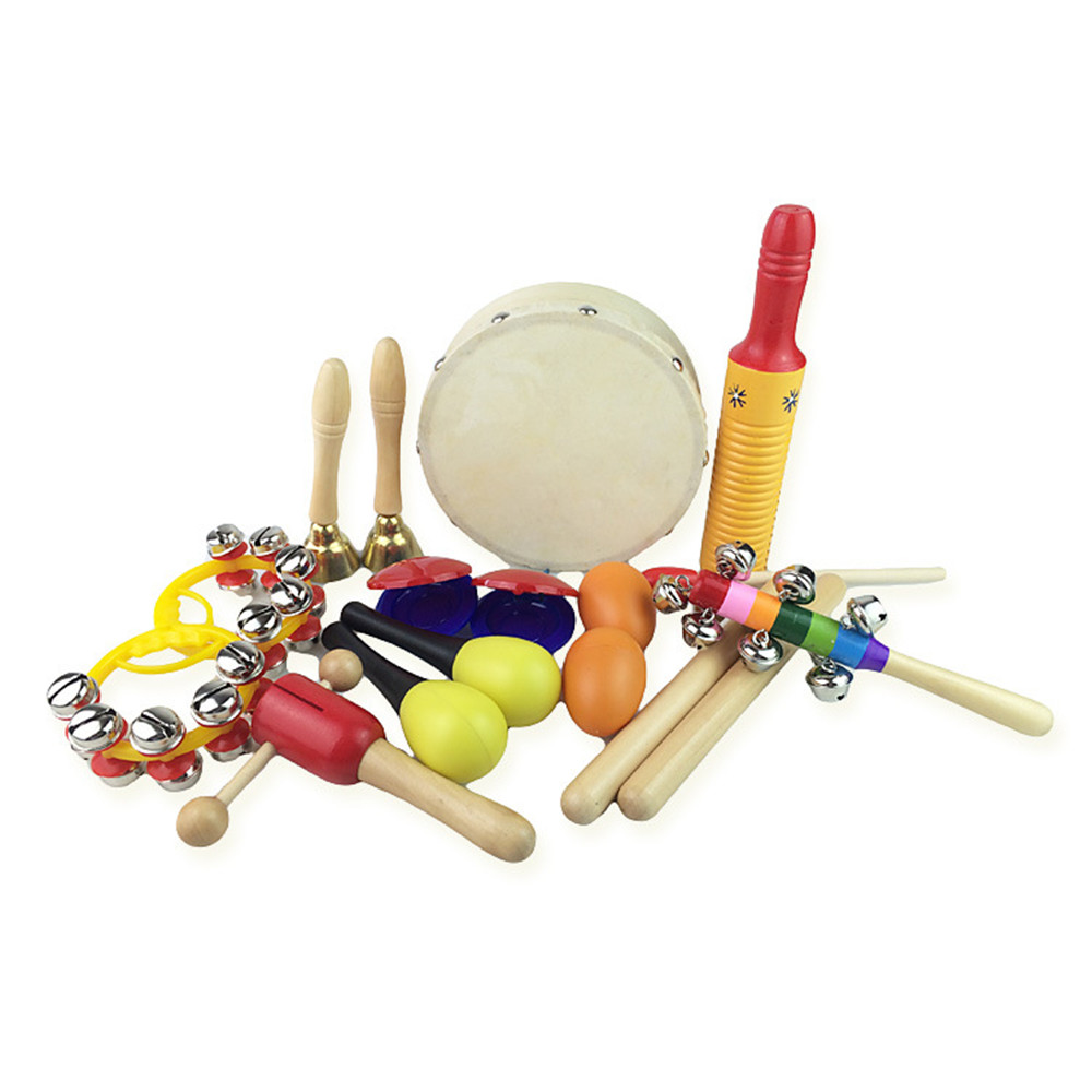 Kids Musical Instruments Tambourine Set Toddler Musical Toys - COLORMIX