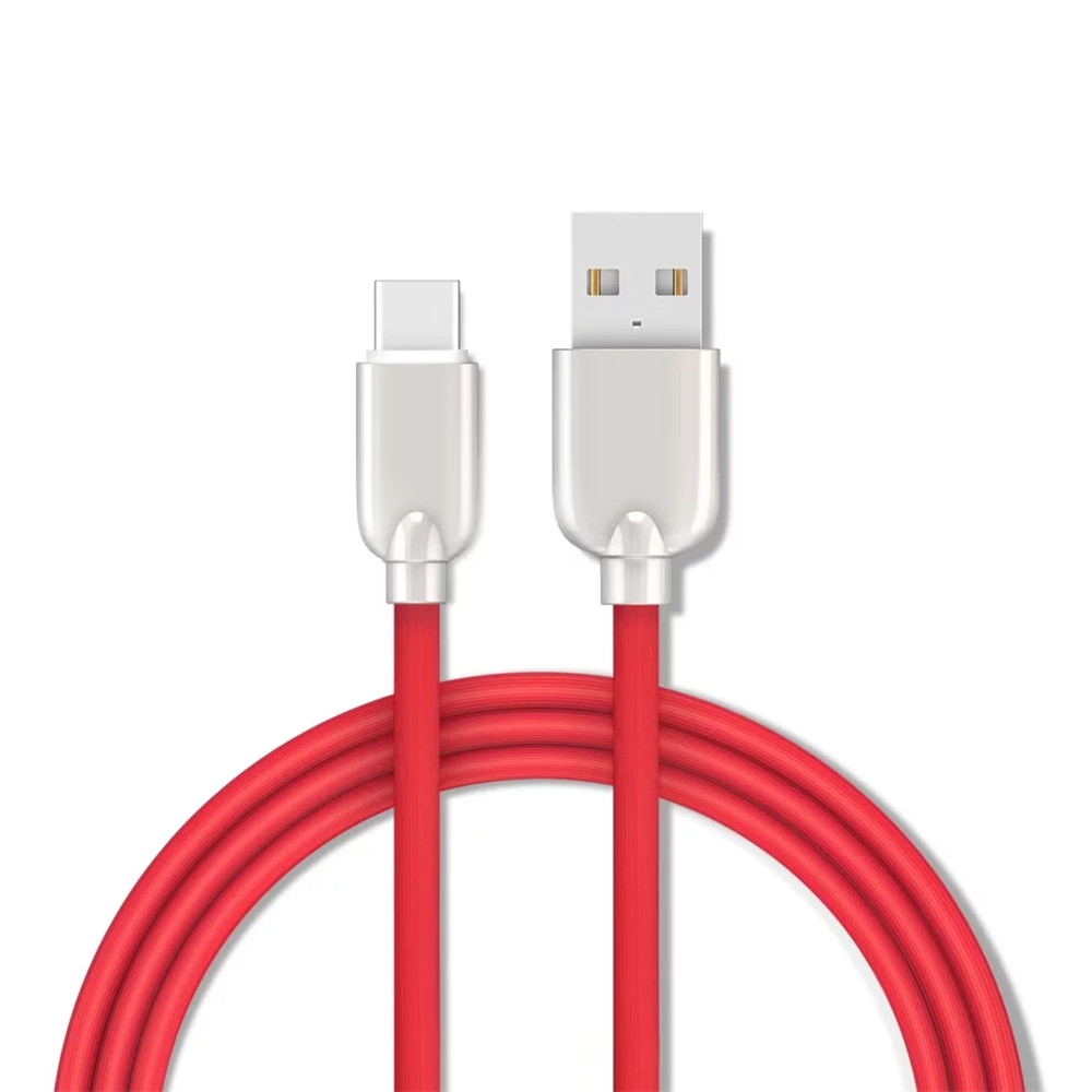 150CM Data Sync Fast Charging Cable Type-C Devices Zinc Alloy Spring Cord - RED