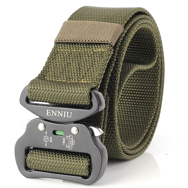 Mens Tactical Belt 51 Inch Adjustable Military Nylon Belts with Heavy Duty Metal Buckle Khaki Plaid