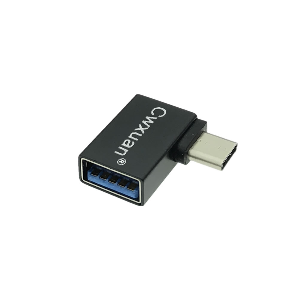 USB 3.1 Type-C Male to USB3.0 Female Converter OTG Adapter 90° Left Right Angle