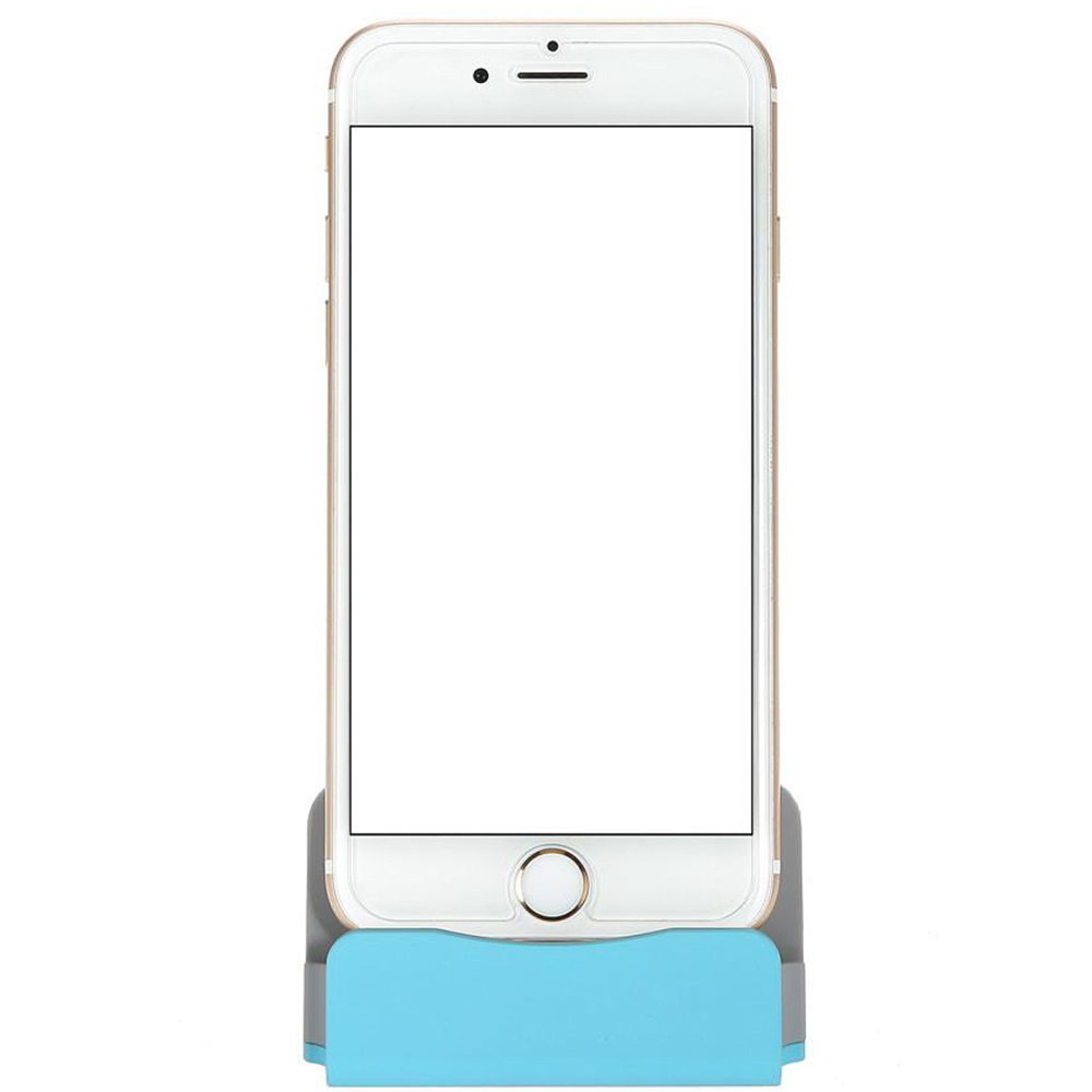 Charger Docking Stand Station Cradle Charging Sync Dock iPhone x/8/7/6/6S/6Plus - BLUE