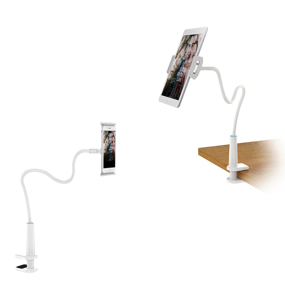 Tablet Holder Stand iPad Mini Pro 9.7 inch Lazy Bed Mount Support Bracket - WHITE