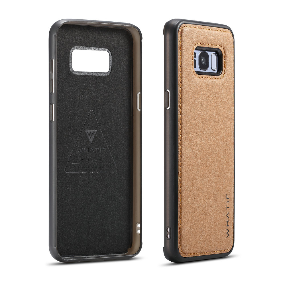 Cover for Samsung Galaxy S8 Plus Leather Kickstand Extra-Durable Business Mobile Phone Cover Card Holders with Free Waterproof-Bag Classical Samsung Galaxy S8 Plus Flip Case