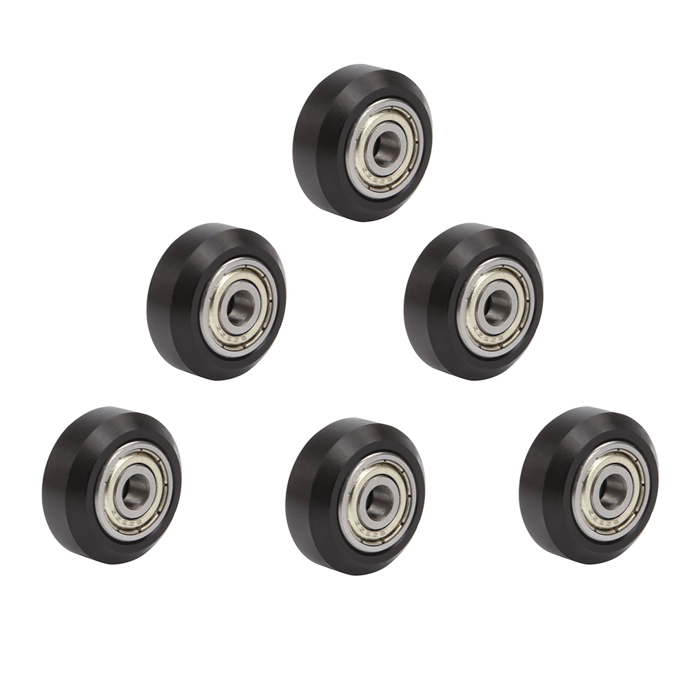 SIMAX3D POM Big Pulley Wheels Ender 5 Plastic Linear Bearing Pulley Passive Round Wheel Roller Compatible for Creality Ender 3 CR-10 and CR-10 S Series 3D Printer 12 pcs//Pack