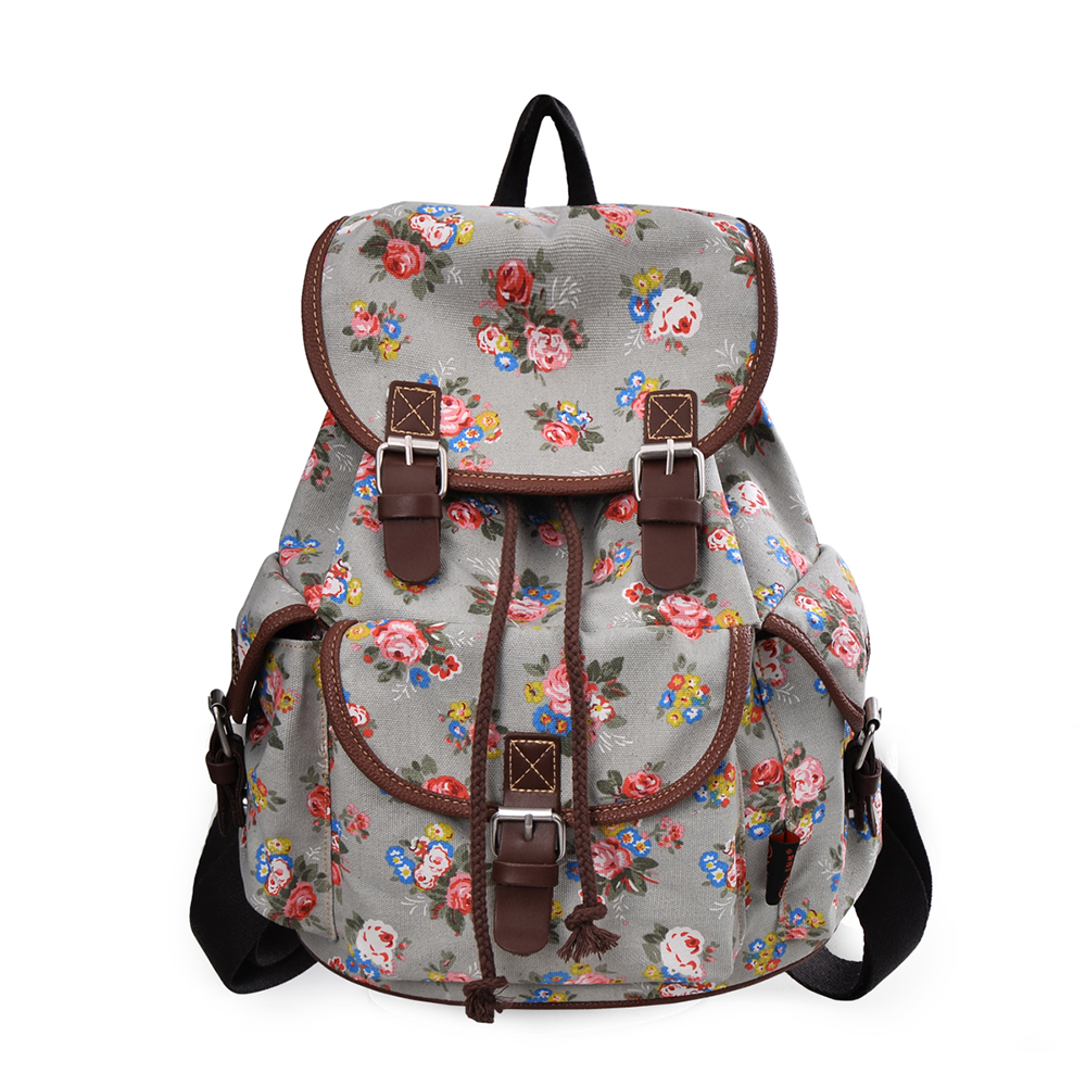 Sweet Teens and Girls Pretty Flowers Tower Cross Body Bag or Shoulder Bag for Women