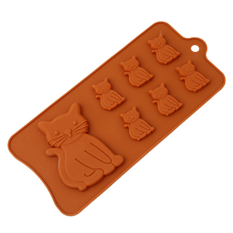 3D Lovely Cat Soap Mould Silicone Candle Mold Fondant Chocolate Cake Decor mPTH