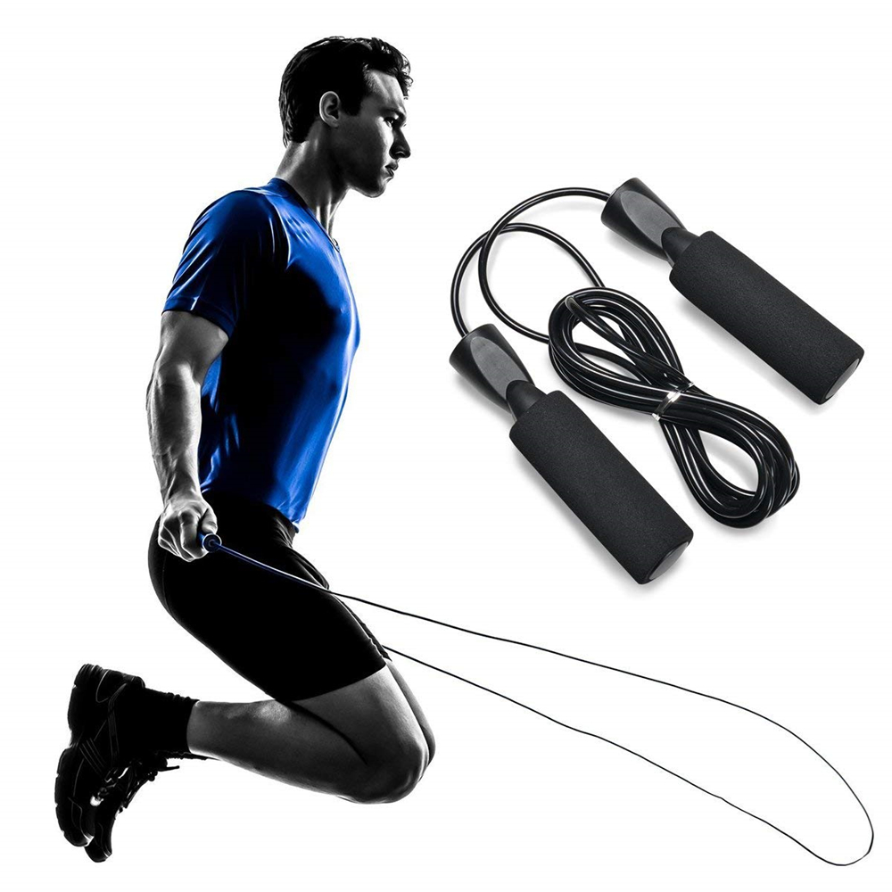 1pc Jump Ropes Fitness Skipping Rope Workout Training Rope Adjustable Length