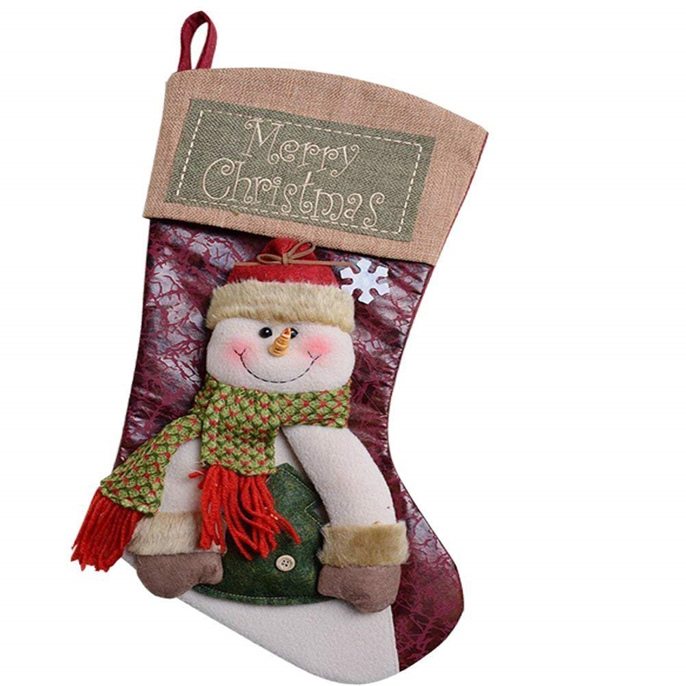 Christmas Sweet Santa Candy Gift Stocking Storage Bag Christmas Tree Decorations Hanging Stockings for Xmas Gift Hiking,Camping,Travelling,Hunting Military Pouch Tactical Christmas Stocking Bag Sock