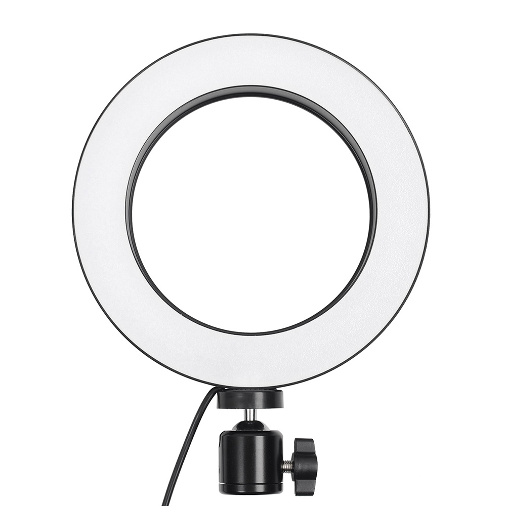 Peaceip US 19in Ring Light Dimming Led With Tripod Stand Mini Led Camera Light With Phone Holder Desktop Led With 2 Soft Light