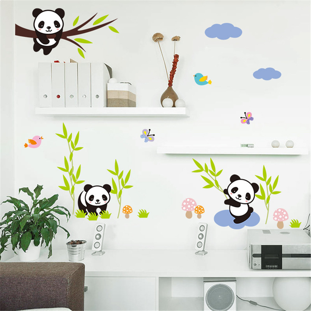 PVC Panda Bamboo Pattern Removable Wall Sticker Art Mural Decal Wall Sticker
