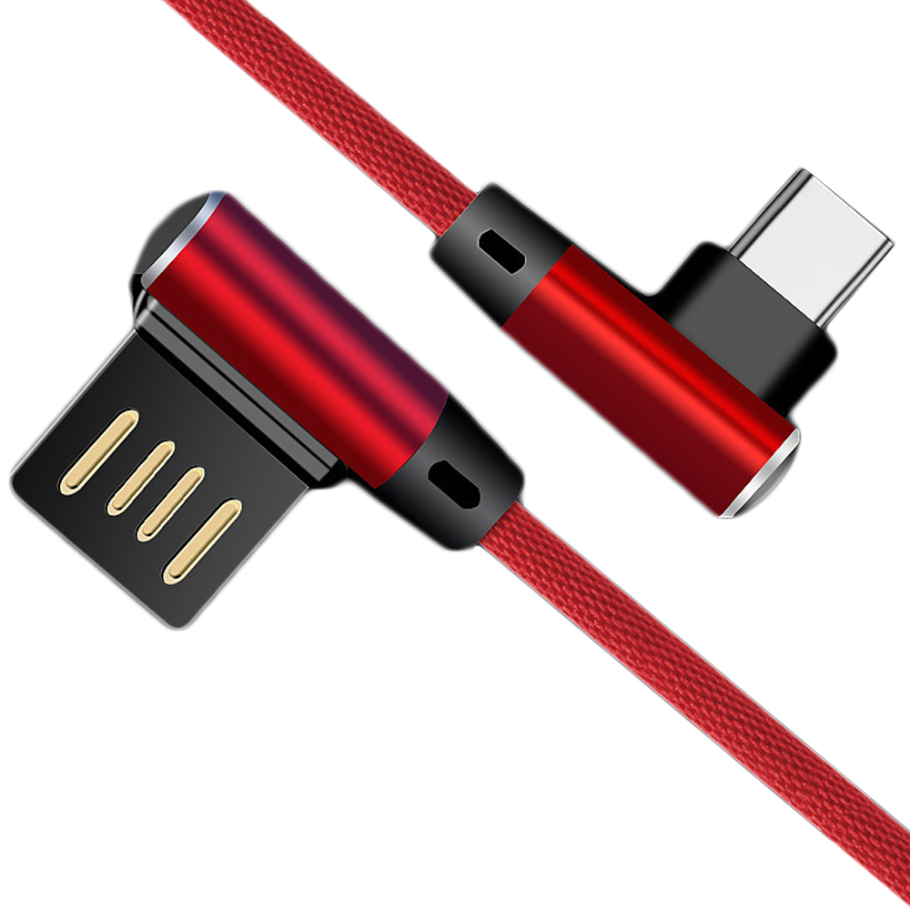 4A 25CM Fast Charging USB 3.1 Type-C Data Sync Gaming Cable Oneplus 6T / 5T - RED