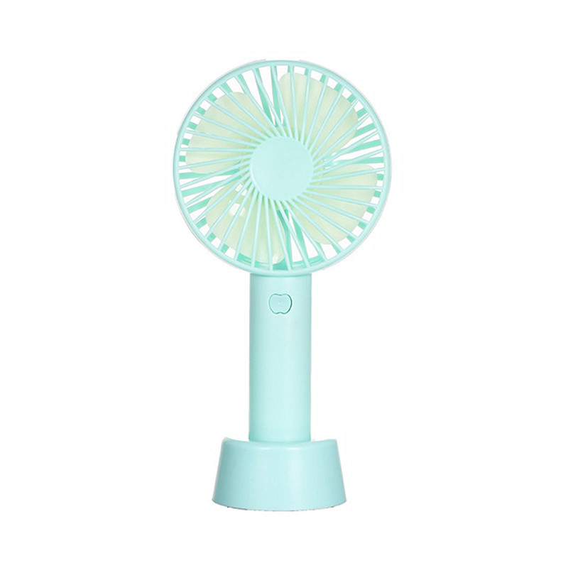 Portable Mini USB Fan Folding Hang Rope Table Fan Handheld Rechargeable Operated Cooling Electric Fan Small Bear Fan for Home Office Hiking Travelling Office Room
