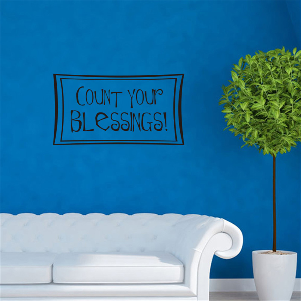 Count Your Blessings Art Apothegm Home Decal Wall Sticker Sale Price Reviews Gearbest