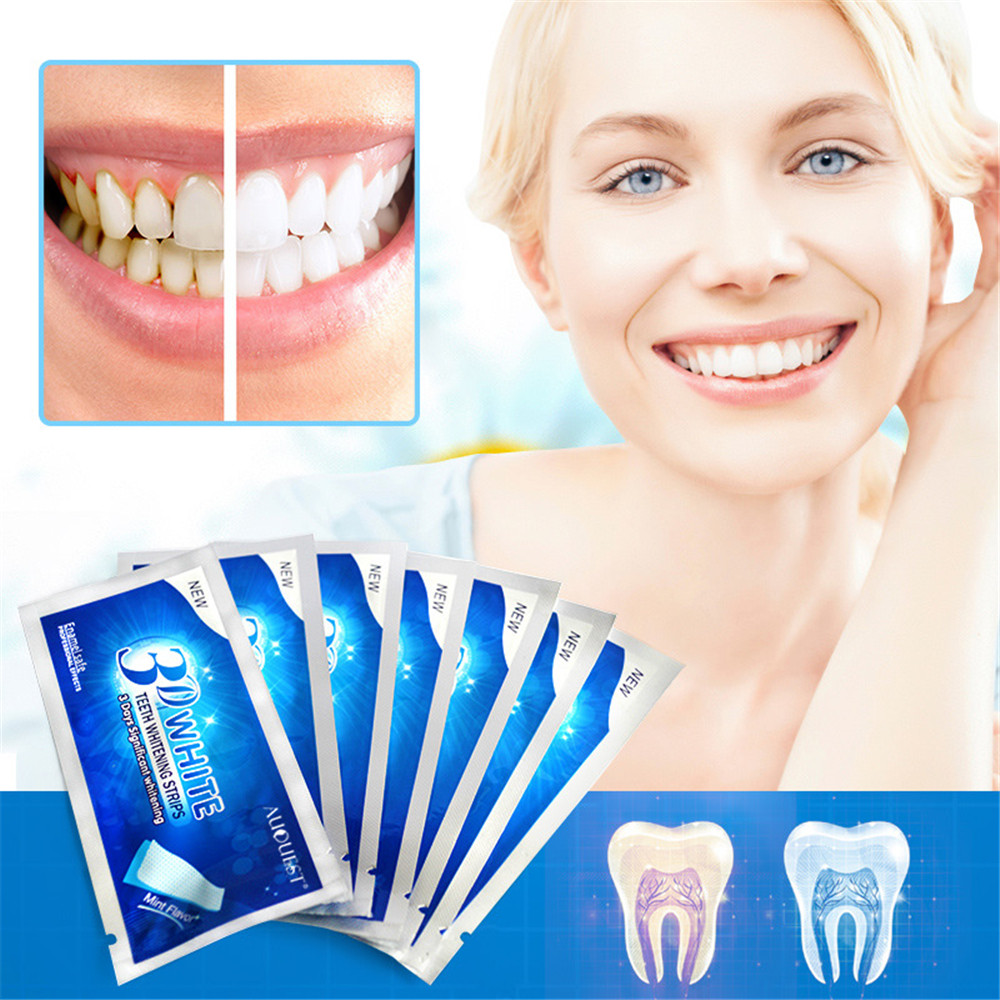 3d White Gel Teeth Strips Oral Hygiene Care Whitening Tools Sale