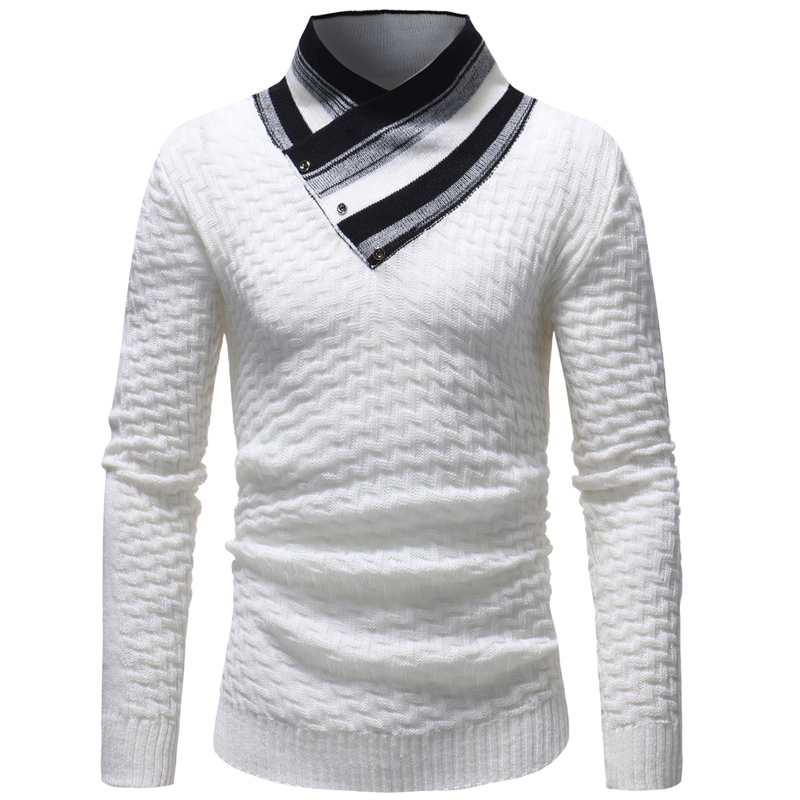 Generic Mens Casual Slim Fit Pullover Sweaters Turtleneck Knitted Sweater