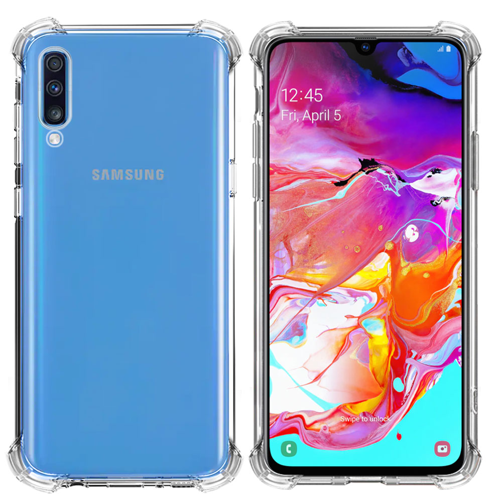 mrnorthjoe shockproof armor clear back phone case cover for samsung galaxy a70