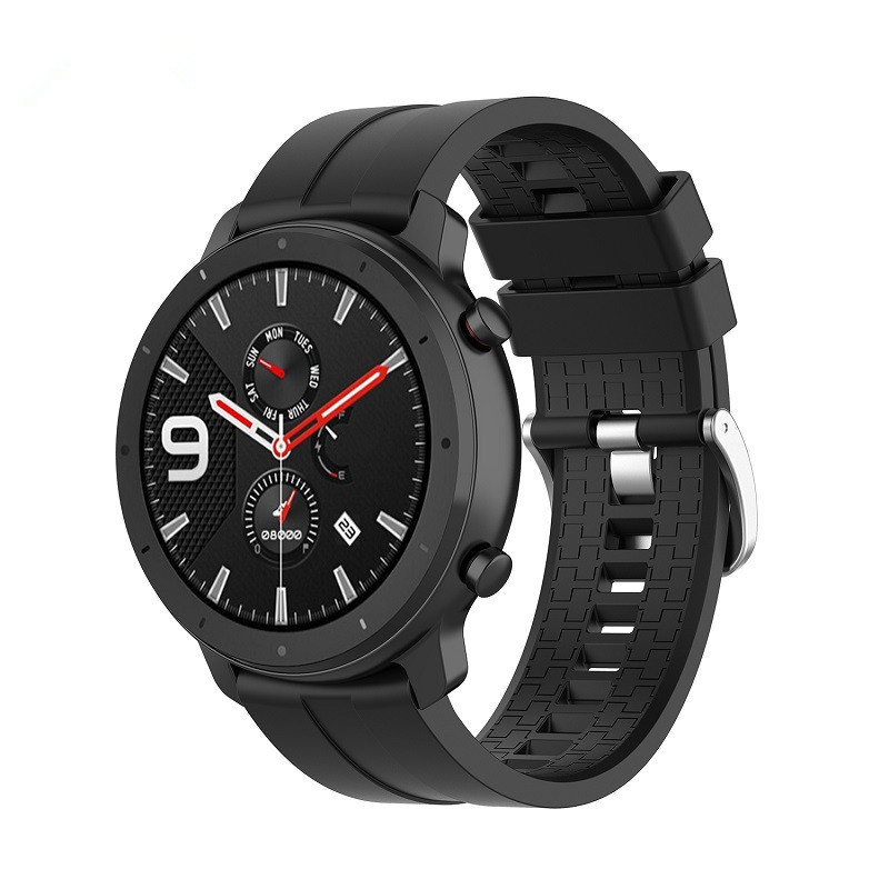 Soft Silicone WristBand Twill Pattern Strap For Huami Amazfit 3 Pace GTR 47mm