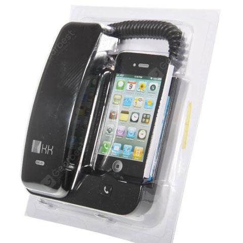 KK-01 Classic Handset Dock Stand for iphone 4/3G/3GS - Black