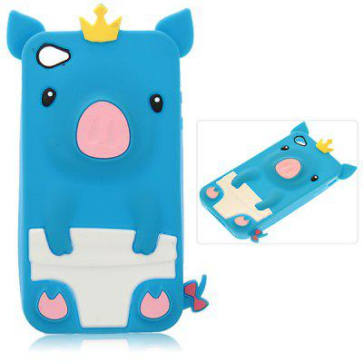 Fashion Personalized 3D Cute Pig Pattern Fabulous Case Cover for iPhone 4 / 4S ( Blue )