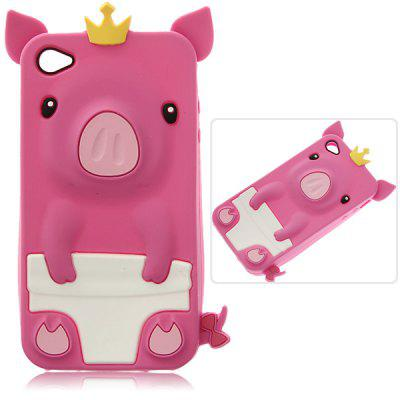 Fashion Personalized 3D Cute Pig Pattern Fabulous Case Cover for iPhone 4 / 4S ( Pink )