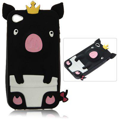 Fashion Personalized 3D Cute Pig Pattern Fabulous Case Cover for iPhone 4 / 4S ( Black )