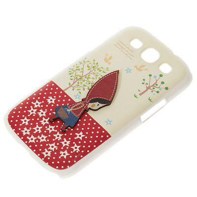 Flat New Plastic Case for Samsung i9300 Galaxy S3 with Little Red Riding Hood Pattern