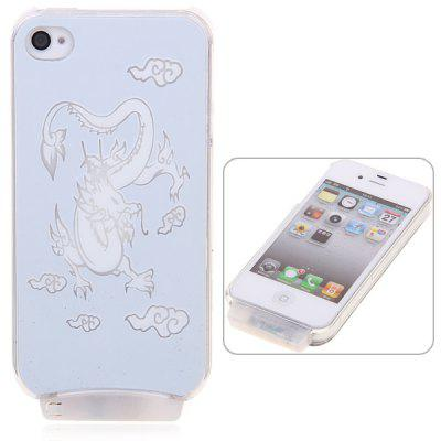 Dragon Pattern Flasher LED Color Changed Protector Case for iPhone 4/4S (Flash While Calling or Called)
