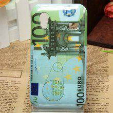 Unique One Hundred Euro Pattern Smooth Protective Plastic Cover Case for Samsung Galaxy S5830