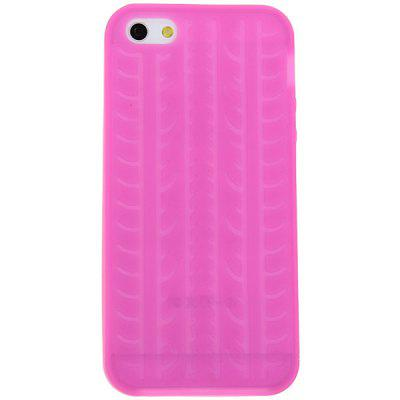 10PCS Wholesale Fashion Tire Pattern Silicone Cover Case for iPhone 5 - Rose