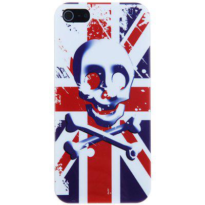 Unique Skull  and Flag Pattern Hard Cover Case for iPhone 5