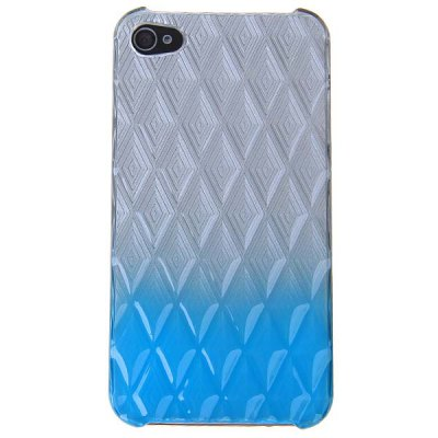 Fashion Plastic Case Cover with Gradually Changing Color for iPhone4/4S - Azure