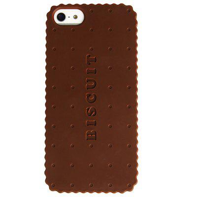 Biscuit Pattern Protective Plastic Cover Case for iPhone 5 - Chocolate 360 degree rotating protective litchi pattern case w stand for google nexus 7 ii chocolate