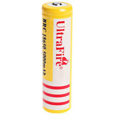UltraFire 18650 High Capacity 3.7V 5000mAh Li - ion Rechargeable Battery  -  1 - Pack, Yellow, without Protection Board