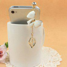 Sweet Cute Rhinestone Decorated Openwork Bowknot Shape Cellphone Dustproof Plug