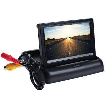 Foldable 4.3 inch Digital TFT LCD Monitor Support Two Way AV Input - Black