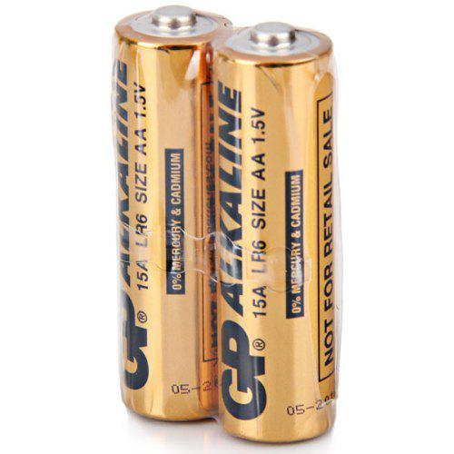 Unsurpassed Performance GP 15A LR6 Size AA 1.5V Alkaline Battery 2Pcs
