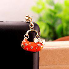 Chic Style Rhinestone and Bownot Design Handbage Shape Women's Alloy Pluggy