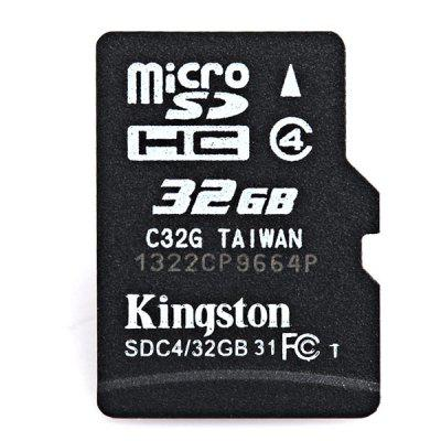 Scheda di memoria portatile Kingston 32 GB Micro SD / TF Piccola Class4