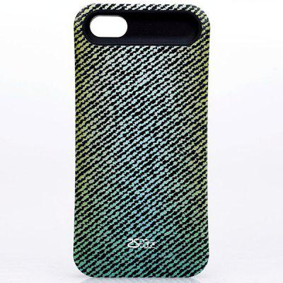 I-glow PVC Back Shell Case with Jeans Pattern for iPhone 5 / 5S - Marine Green fashion glow in the dark protective frosted plastic back case for iphone 5 5s green