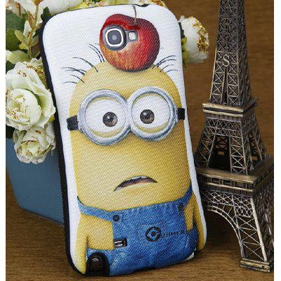 Durable PC and Silicone Back Shell Case with Despicable Me and Apple Pattern for Samsung Galaxy Note 2 N7100